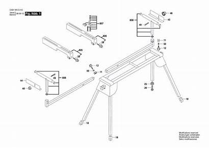 Bosch Parts T1b Replacement Miter Stand Diagram