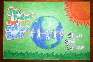 Save Mother Earth Poster Drawing