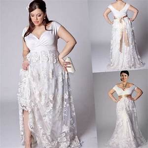 Plus size beach wedding dresses cheap pluslookeu collection for Beach plus size wedding dresses