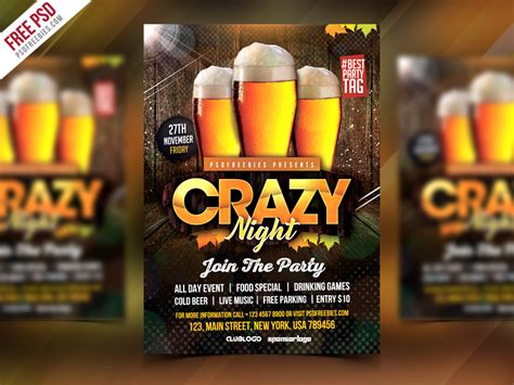 Free Club Party Flyer Psd Template By Psd Freebies
