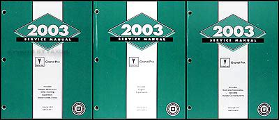 auto repair manual free download 2003 pontiac grand am parking system 2003 pontiac grand prix repair shop manual original 3 volume set