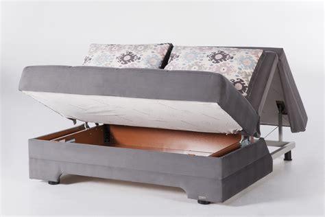 Seat Sleeper Sofas by Twist Seat Sofa Sleeper In Gray Sleepworks