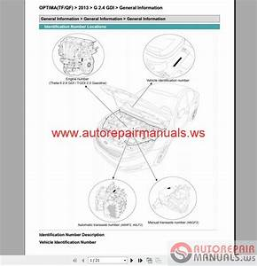 Kia Optima 2 4 Gdi 2013 Service Manual