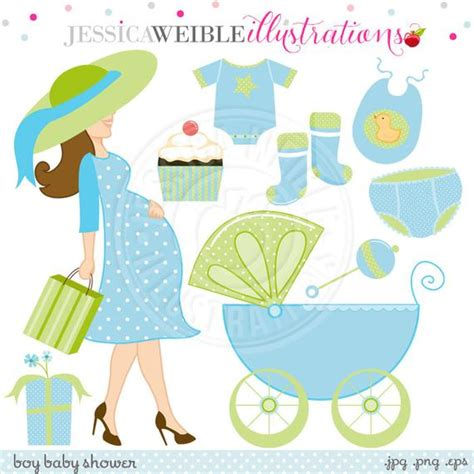 boy baby shower cute digital clipart commercial   etsy