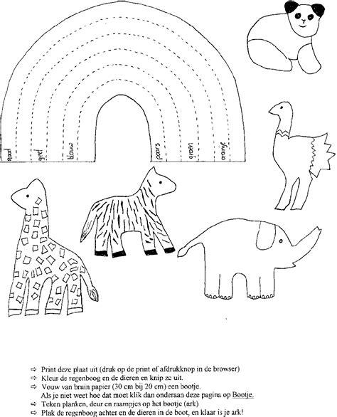 Kleurplaat Regenboog Ark Noach by Ark Noach