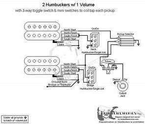 Humbucker Single 1 Volume 3 Way Switch Wiring Diagram Humbuckers