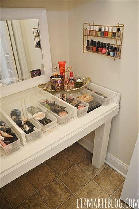 Glass Vanity Makeup Table diy glass top makeup vanity liz