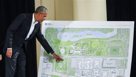 obama unveils design   future library