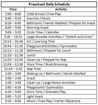 preschool daily schedules 17 best images about preschool classroom organization on 437