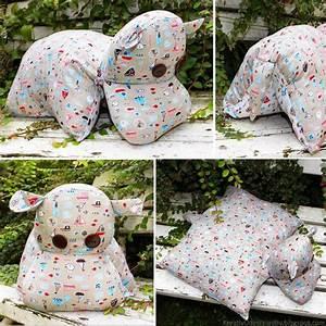 Kinderspielzeug Selber Machen : nilpferd kissen hippo kuscheltier n hen stoff anleitung selber machen tutorial ~ Orissabook.com Haus und Dekorationen
