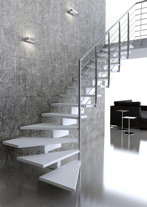 altezza ringhiera preventivo scala monotrave centrale con gradini in legno