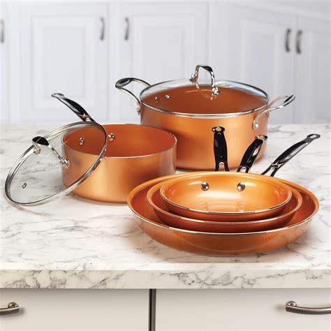 ceramic copper  stick cookware  set  ebay