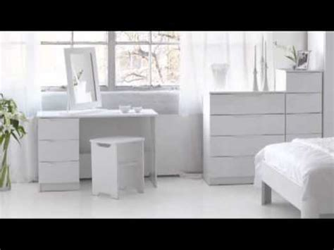 Alpine White High Gloss Bedroom Furniture Youtube