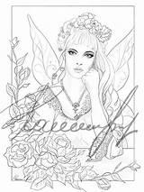Coloring Vanity Fairy sketch template