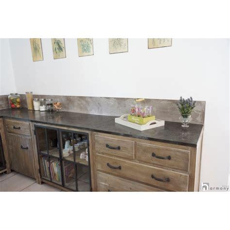 cuisine bois beton carrelage design béton ciré sur carrelage plan de