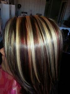 Red, Blonde & Brown highlights & Lowlights | Short ...