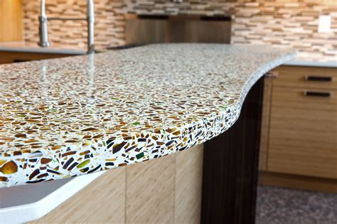 recycled countertops the pros cons of glass countertops
