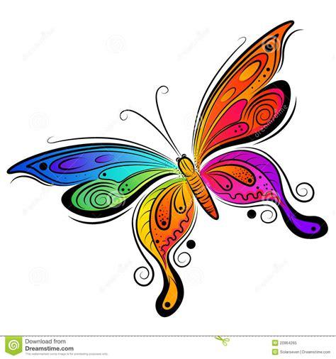 clipart farfalla disegno della farfalla di vettore fotografia stock libera