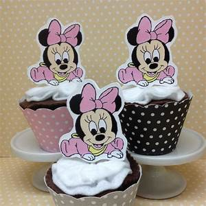 Baby Minnie Mouse Party or Baby Shower Cupcake Topper