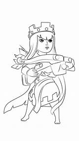 Clash Royale Clans Archer Coloring Queen Drawing Draw Characters Sketch Step Template Tutorials الوصف هذا sketch template
