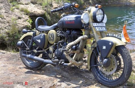 Modified Bikes Tyres by Rudra Royal Enfield Desert Modified By Arhunki Of