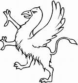 Coloring Phoenix Griffin Gryphon Colouring Bird Printable Drawing Hercules Meg Animals Drawings Greek Cartoon Mythology Potter Harry Hades Template Sketch sketch template