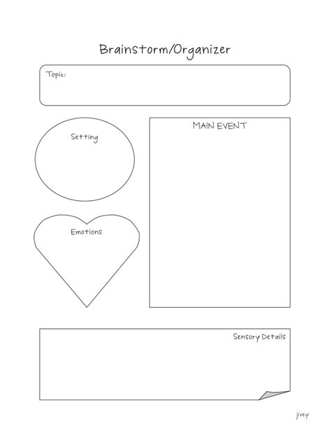 graphic organizer for helping students write from seed