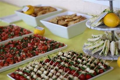 Shower Bridal Finger Foods Menu Table Showers