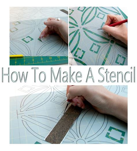 How To Make A Stencil…no Costly Gadgets Required!  Craft Ideas  Pinterest  Estêncil, Como