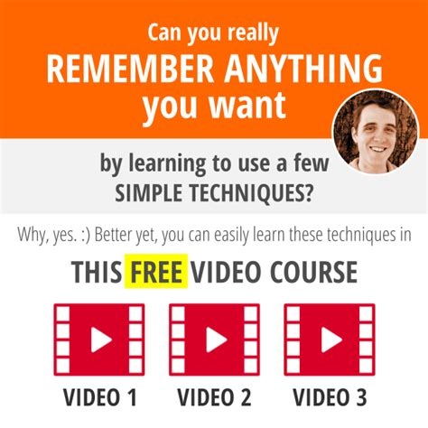 Get Your Free Video Course!  Your Awesome Memory