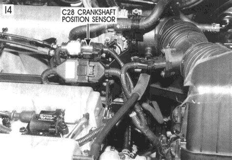 crankshaft positioning sensor located