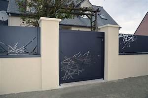 Vial Portillon Fer : cloture design claustra cloture design cloture jardin ~ Premium-room.com Idées de Décoration