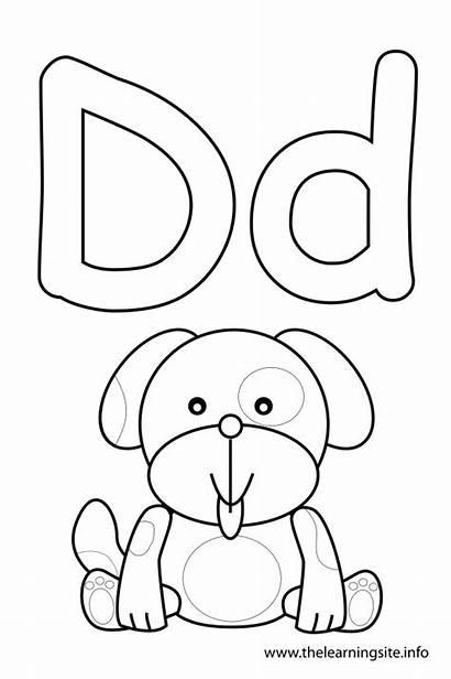 Letter Coloring Alphabet Dog Pages Outline Flash