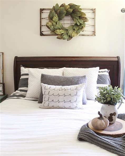 bed decor ideas  pinterest grey room
