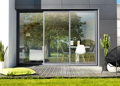 baie coulissante 3 vantaux baie coulissante aluminium 3 rails baie vitree galandage k line la fen 234 tre lumi 232 re