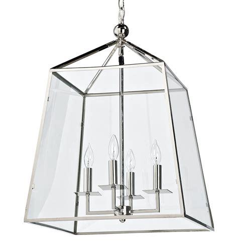 silver lantern pendant light tesla industrial loft modern trapezoid silver metal glass