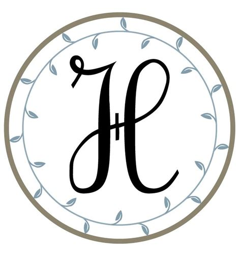letter   printable monograms   hand