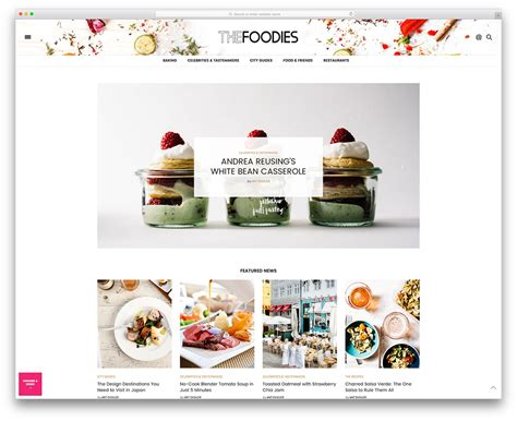 Top 10 School Website Templates by Top Ten Themes For Cooking Food Blog Web