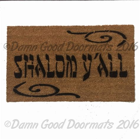 shalom doormat shalom y all novelty welcome doormat by