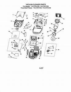 Kenmore Progressive Canister Vacuum Parts List