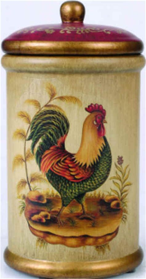 rooster kitchen canisters kitchen canisters homes and garden journal