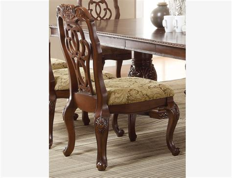 coaster formal cherry wood dining side chairs cushion seat