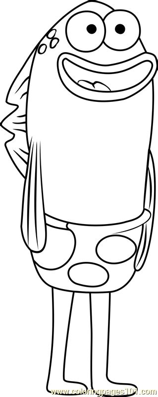 sandals fishbowl coloring page  spongebob