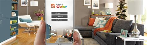 the home depot new technology shows you the paint color before it s your walls