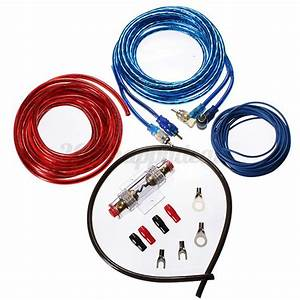 500 Watt Complete 8 Gauge Car Amp Audio Amplifier Cable
