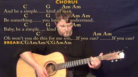 Simple Man (lynyrd Skynyrd) Strum Guitar Cover Lesson With Chords/lyrics