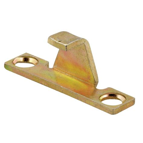 prime  casement lock keeper  gold irridite    home depot