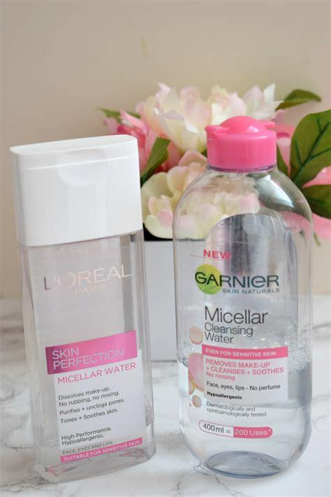 Micellar Water Comparison Garnier Vs Loreal When