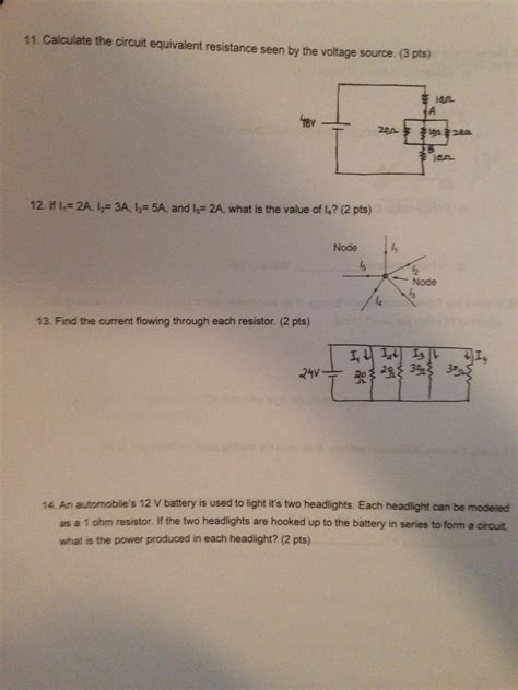 Solved Calculate The Circuit Equivalent Resistance Seen