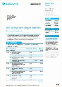 Fake barclays bank statement template business template for Fake barclays bank statement template